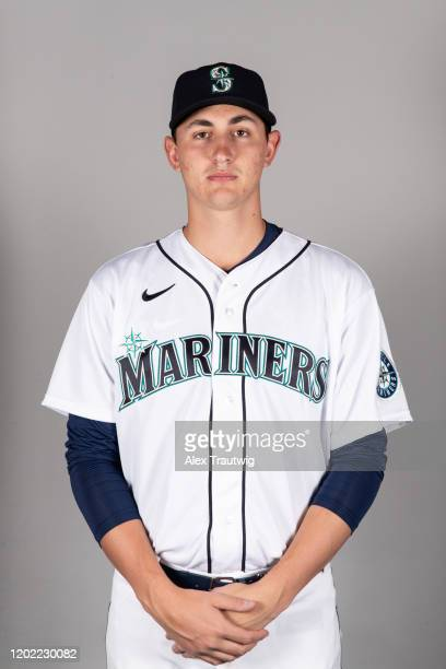 George Kirby of the Seattle Mariners poses during Photo Day on Thursday February 20 2020 at the Peoria Sports Complex in Peoria Arizona