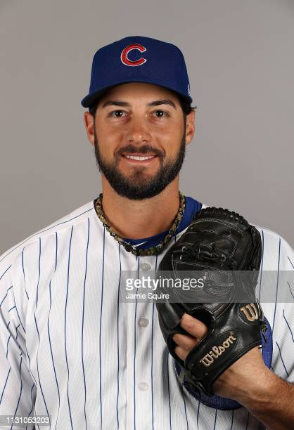 George Kontos poses for a portrait during Chicago Cubs photo day on February 20 2019 in Mesa Arizona