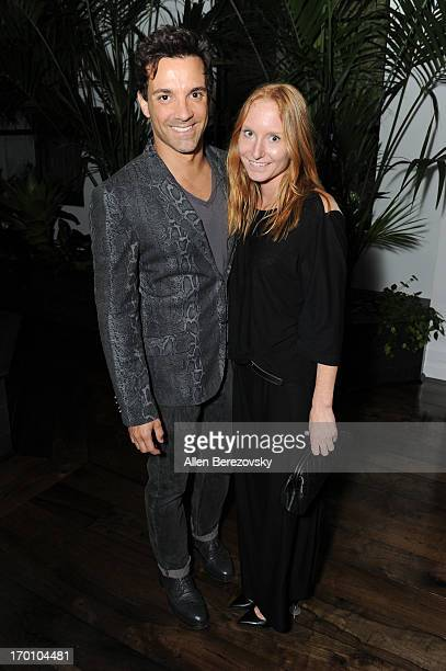 George Kotsiopoulos and Angelica Gleason attend Jeremy Renner's and Kristoffer Winters' celebration of the launch of Robb Report Home Style on June 6...