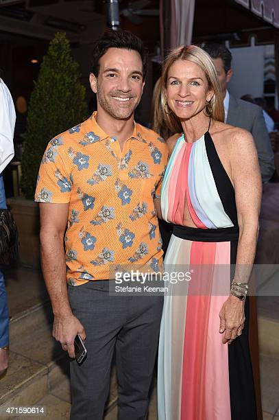George Kotsiopoulos and Crystal Lourd attend Crystal Lourd and Jacqui Getty Welcome NETAPORTER's Sarah Rutson To LA at Sunset Tower Hotel on April 29...