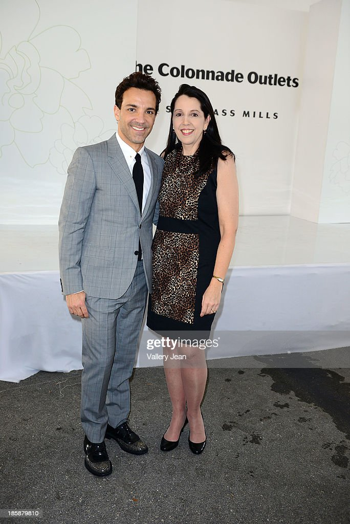 George Kotsiopoulos and Luanne Lenberg appear at The Colonnade Outlets at the Sawgrass Mills Tour de Fashion at Sawgrass Mills Mall on October 25, 2013 in Sunrise, Florida.