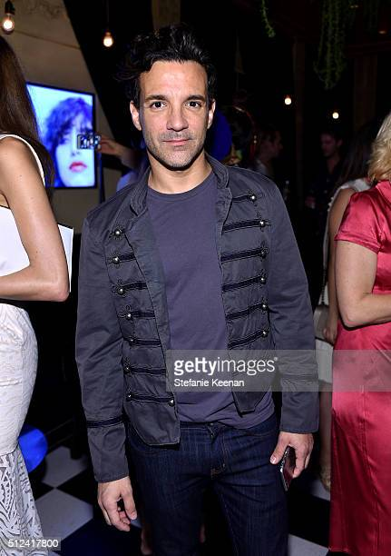George Kotsiopoulos attends the I Love Coco Backstage Beauty Lounge at Chateau Marmont's Bar Marmont on February 25 2016 in Hollywood California