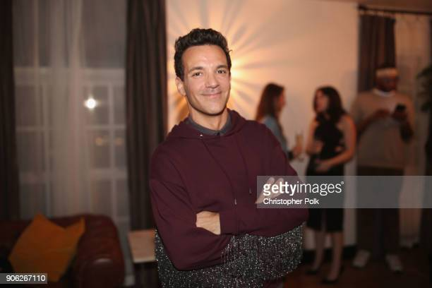 George Kotsiopoulos attends the Wolk Morais Collection 6 Fashion Show at The Hollywood Roosevelt Hotel on January 17 2018 in Los Angeles California