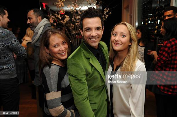 George Kotsiopoulos poses with guests at the Glamorous By George book launch celebration hosted by GAP Outlet at Andaz 5th Avenue on January 20, 2014...