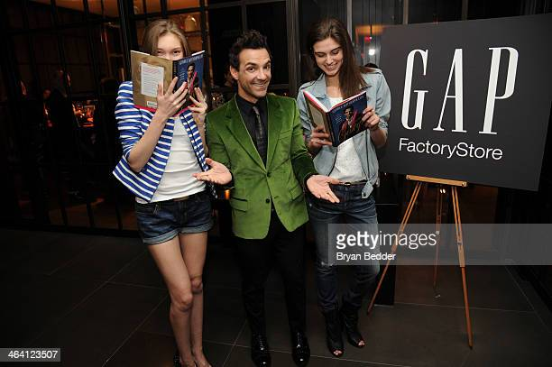 George Kotsiopoulos poses with models at the Glamorous By George book launch celebration hosted by GAP Outlet at Andaz 5th Avenue on January 20, 2014...