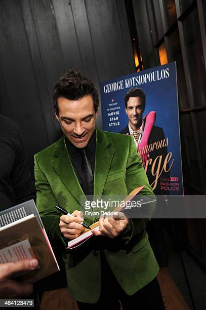 George Kotsiopoulos signs autographs for fans at the Glamorous By George book launch celebration hosted by GAP Outlet at Andaz 5th Avenue on January...