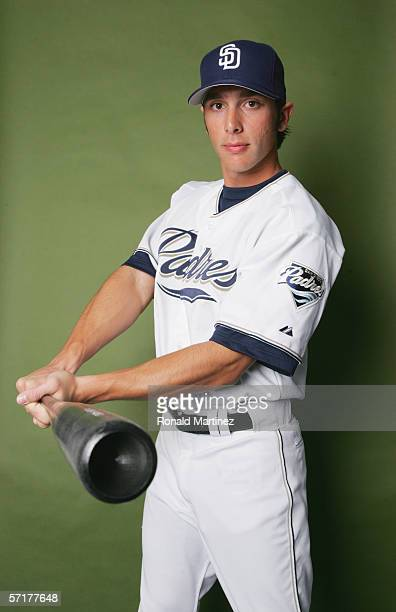 George Kottaras poses for a portrait during the San Diego Padres Photo Day at Peoria Stadium on February 26 2006 in Peoria Arizona