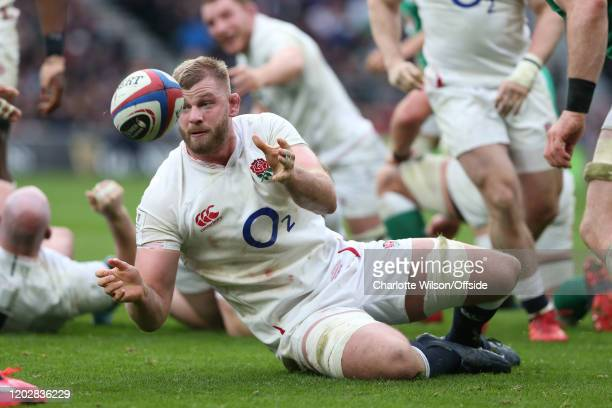 George Kruis of England during the 2020 Guinness Six Nations match between England and Ireland at Twickenham Stadium on February 23, 2020 in London,...