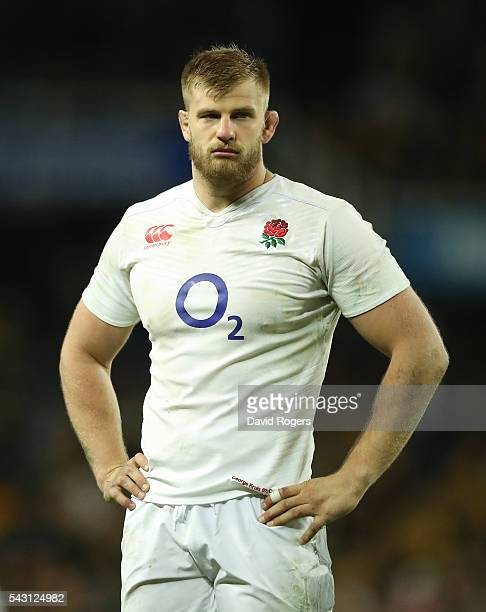 George Kruis of England looks on during the International Test match between the Australian Wallabies and England at Allianz Stadium on June 25 2016...