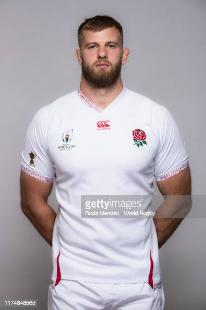 George Kruis of England poses for a portrait during the England Rugby World Cup 2019 squad photo call on September 15, 2019 in Miyazaki, Japan.