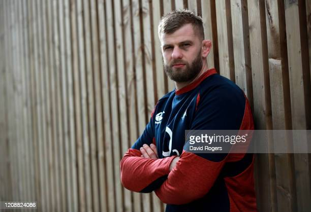 George Kruis poses during the England media session held at Harwell Laboratories Recreational Association on February 26, 2020 in Didcot, England.