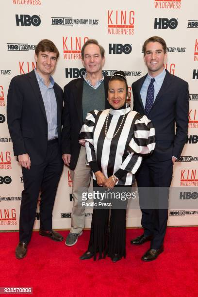 George Kunhardt Peter Kunhardt Xernona Clayton Teddy Kunhardt attend King in the wilderness New York Screening at Riverside Church