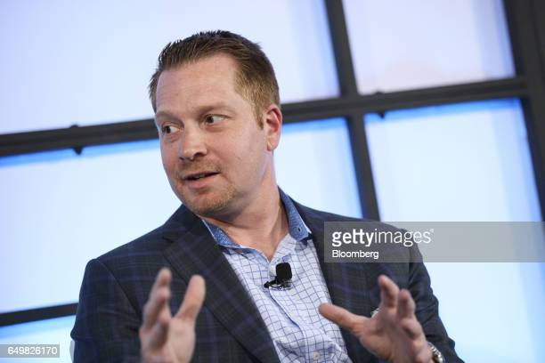 George Kurtz cofounder and chief executive officer of Crowdstrike Inc speaks during the Montgomery Summit in Santa Monica California US on Wednesday...