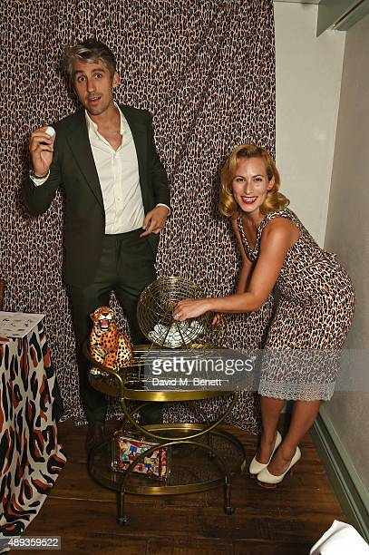 George Lamb and Charlotte Dellal attend a private dinner celebrating the Charlotte Olympia SS16 Collection during LFW at Daphne's on September 20...