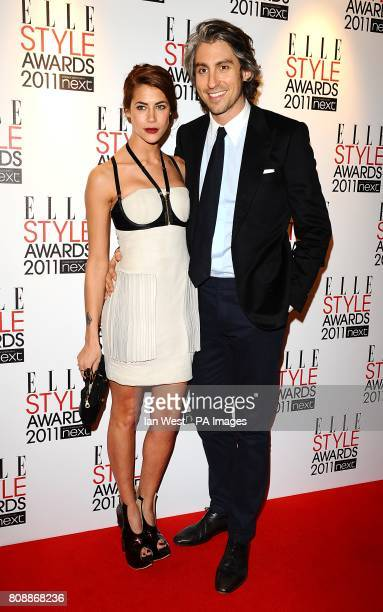 George Lamb and Karima Adebibe arriving for the Elle Style awards at the Grand Connaught Rooms Great Queen Street London