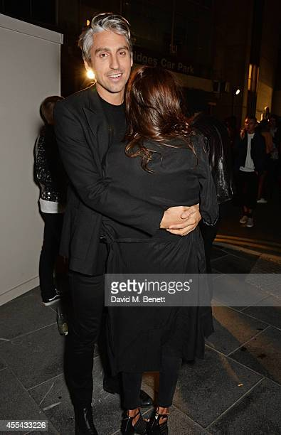 George Lamb and Karima Adebibe attend the party to celebrate the World of Rick Owens at Selfridges during London Fashion Week at Selfridges on...