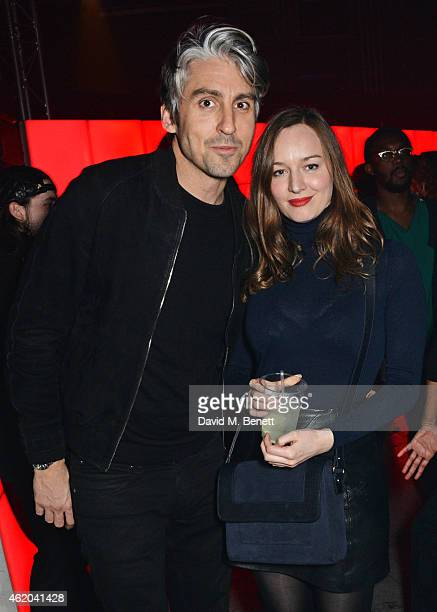 George Lamb and Lou Hayter attend as Mark Ronson hosts a party to celebrate the launch of his new album 'Uptown Special' at Television Centre White...