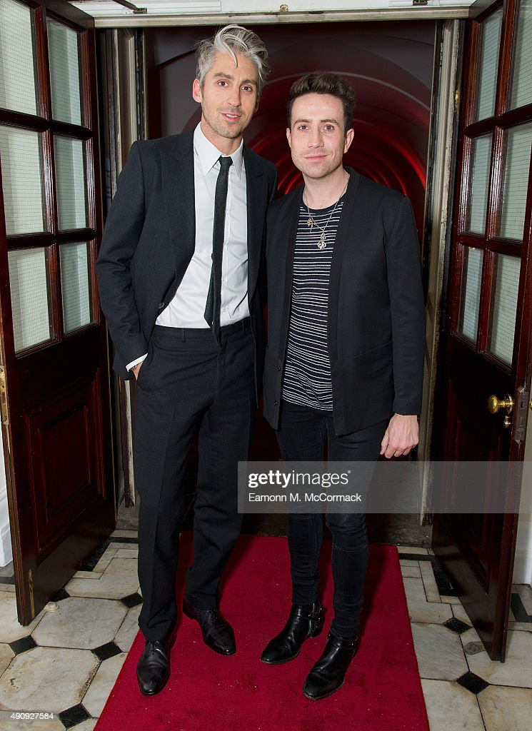 George Lamb and Nick Grimshaw attend a fundraising event in aid of the Nepal Youth Foundation at Banqueting House on October 1, 2015 in London, England.