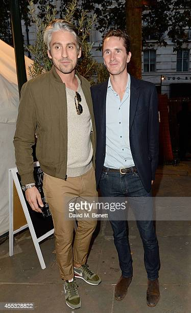 George Lamb and Otis Ferry attend Club Monaco Sloane Square event to celebrate Women's Flagship Store opening on September 12 2014 in London England