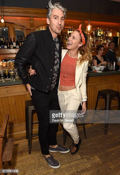 George Lamb and Sophie Moss attend the Zoe Jordan KNITLAXY Quiz Night at The Larrik Pub on April 20 2016 in London England