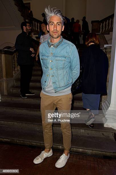 George Lamb attends the Converse x Dazed Emerging Artists Award at Royal Academy of Arts on April 16 2015 in London England