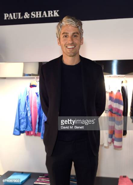 George Lamb attends the launch of the Paul Shark Regent Street Store on April 27 2017 in London England