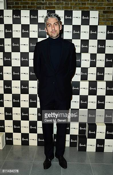 George Lamb attends the Serpentine Future Contemporaries x Harrods Party 2016 at The Serpentine Sackler Gallery on February 20 2016 in London England