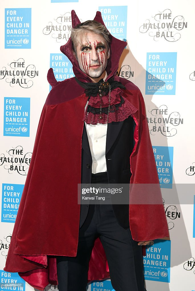 George Lamb attends the UNICEF Halloween Ball at One Mayfair on October 29, 2015 in London, England.
