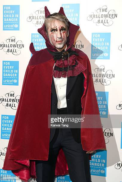 George Lamb attends the UNICEF Halloween Ball at One Mayfair on October 29 2015 in London England