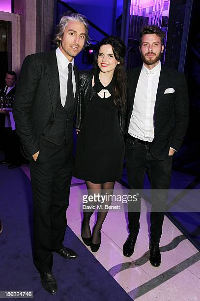 George Lamb, Emer Kenny and Rick Edwards attend the John Frieda party celebrating 25 years of transforming women's hair at Claridges Hotel on October...