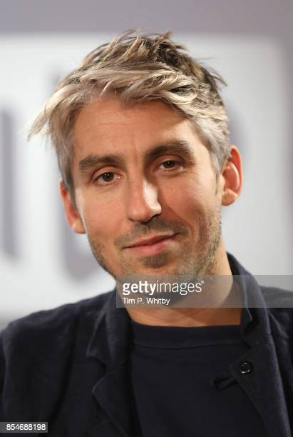 George Lamb poses for a photo after discussing new television programme 'Britain by Bike with Larry and George Lamb' during a BUILD LND event at AOL...
