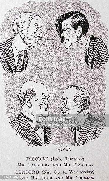 George LANSBURY leader of the Labour party disputing with James Maxtor j$ extremeleft Labour MPanct leader of tie Independent Labour Party having an...