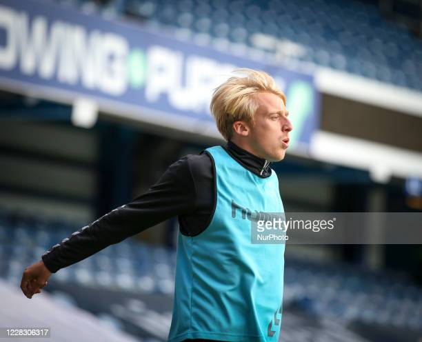 George Lapslie of Charlton Athletic warming up during the EFL Trophy match between AFC Wimbledon and Charlton Athletic at The Kiyan Prince Foundation...