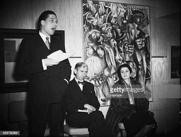 George Lascelles, 7th Earl of Harewood giving a speech at the opening of the new premises of the Institute of Contemporary Arts at 17 Dover Street,...