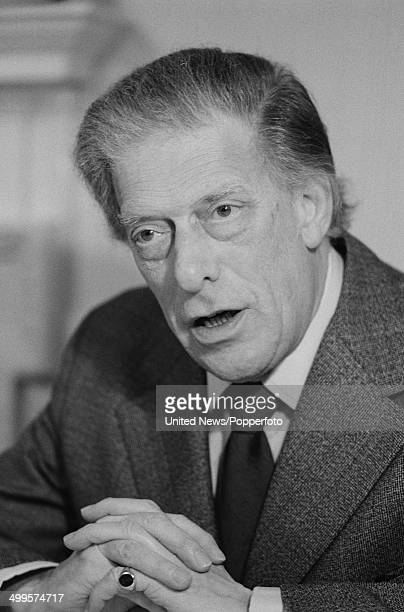 George Lascelles, 7th Earl of Harewood in London on 16th January 1985.