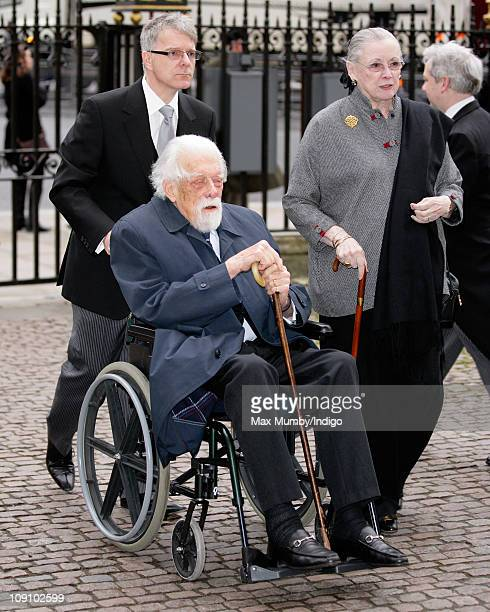 George Lascelles, The Earl of Harewood, attends a Service of Thanksgiving for opera singer Dame Joan Sutherland at Westminster Abbey on February 15,...