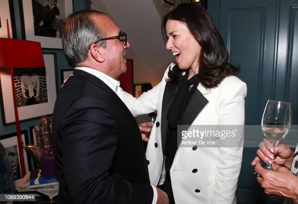 George Ledes and Ann Caruso attend a Holiday Fete hosted by Cornelia Guest And John Demsey at a Private Residence on November 6 2018 in New York City
