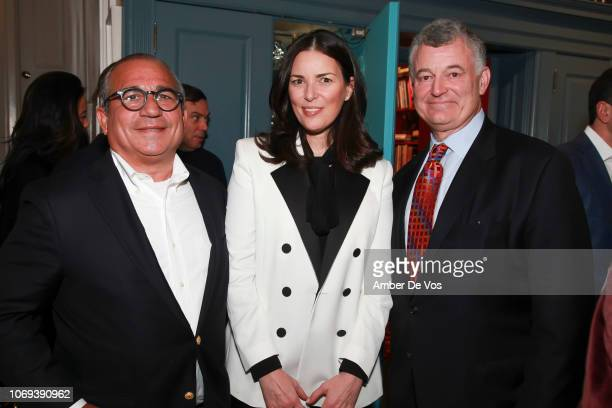 George Ledes Ann Caruso and William Lauder attend a Holiday Fete hosted by Cornelia Guest And John Demsey at a Private Residence on November 6 2018...