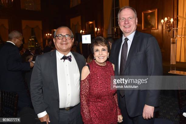 George Ledes Linda Marshall and Achim Daub attend Symrise's Achim Daub ReVive's Elena Drell Szyfer honored at BEYOND BEAUTY Dinner 2018 Special...