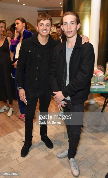 George Lineker and Angus Lineker attend the launch of The Shop At Bluebird Carriage Hall in Covent Garden on May 17 2018 in London England