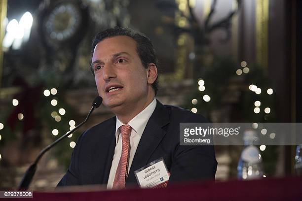 George Logothetis chairman and chief executive officer for Libra Holdings Ltd speaks at the 18th Annual Capital Link Inc Invest in Greece Forum in...
