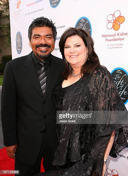 George Lopez and Ann Lopez during George Lopez Hosts National Kidney Foundation Gala Red Carpet in Los Angeles California United States