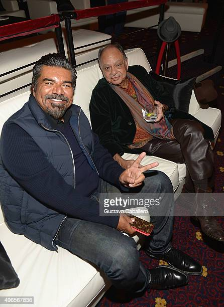 George Lopez and Cheech Marin attends the The Latin Explosion A New America Premiere Screening on November 10 2015 in New York City