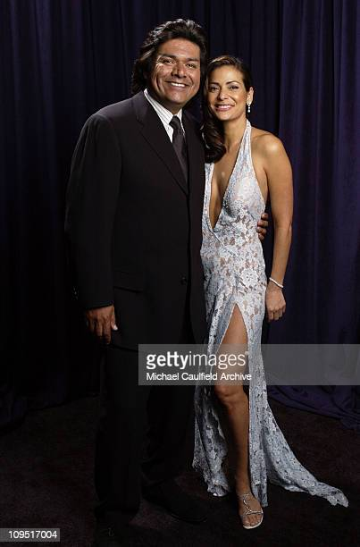 George Lopez and Constance Marie during The 29th Annual People's Choice Awards Portrait Gallery at Pasadena Civic Auditorium in Pasadena California...