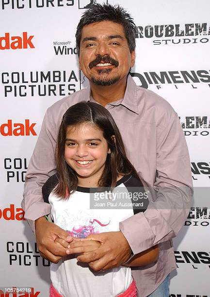 George Lopez and daughter Mayan during 'The Adventures of Sharkboy Lavagirl in 3D' Los Angeles Premiere Arrivals at El Capitan Theater in Hollywood...