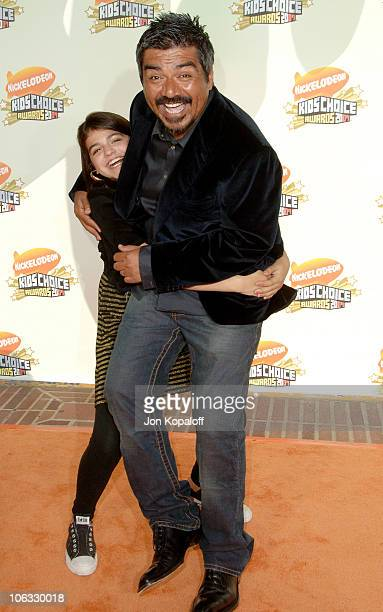 George Lopez and daughter Pedra Lopez during Nickelodeon's 20th Annual Kids' Choice Awards Arrivals at Pauley Pavilion UCLA in Westwood California...
