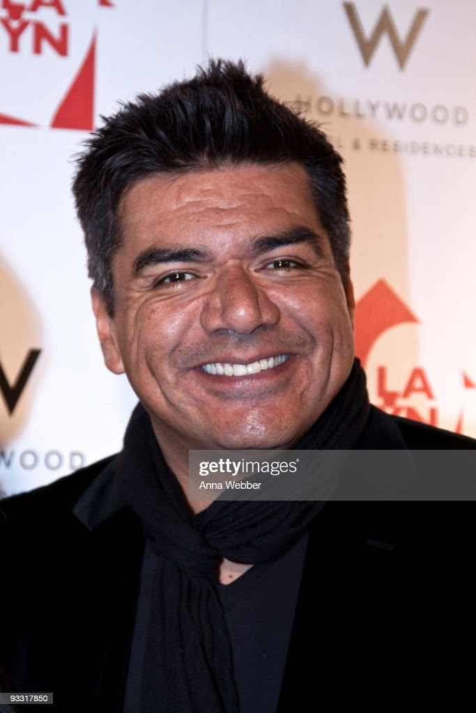 George Lopez arrives at Los Angeles Youth Network Benefit Rock Concert at the Avalon on November 22, 2009 in Hollywood, California.