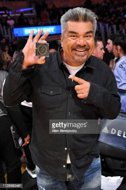 George Lopez attends a basketball game between the Los Angeles Lakers and the Phoenix Suns at Staples Center on January 27 2019 in Los Angeles...
