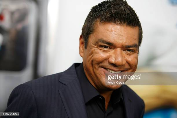 George Lopez attends the premiere of The Smurfs at the Ziegfeld Theater on July 24 2011 in New York City