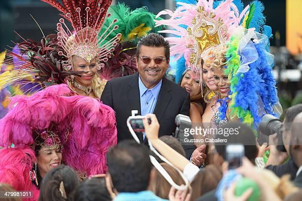 George Lopez attends the 'Rio 2' Premiere at Fontainebleau Miami Beach on March 21, 2014 in Miami Beach, Florida.